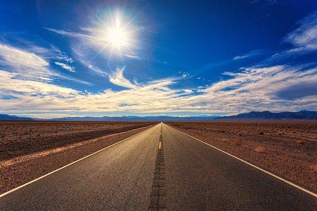 Road Sky Desert Landscape Nature  - jplenio / Pixabay